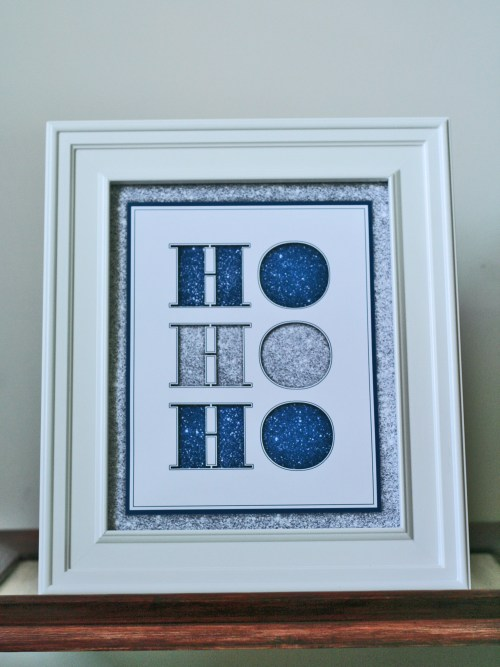 Ho Ho Ho free printable Christmas wall art by Suzanne Carillo