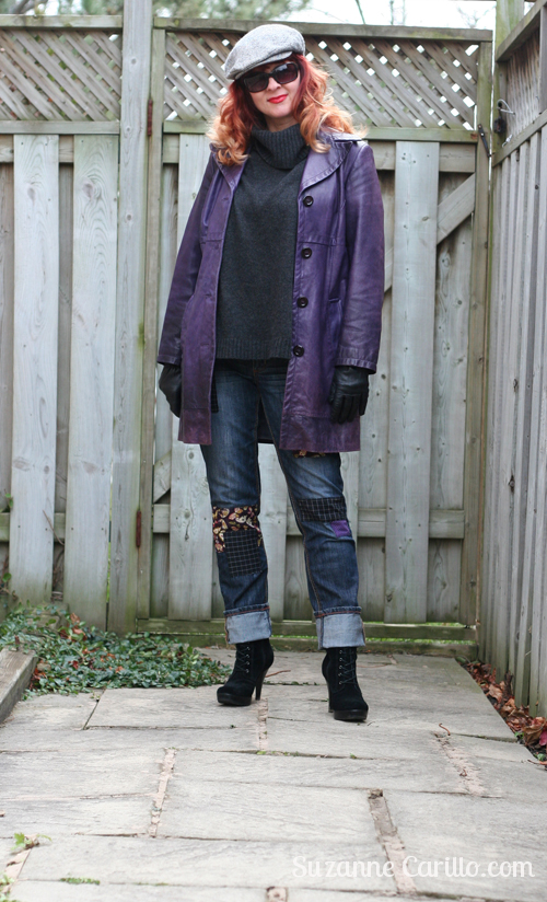 how to style DIY patchwork jeans