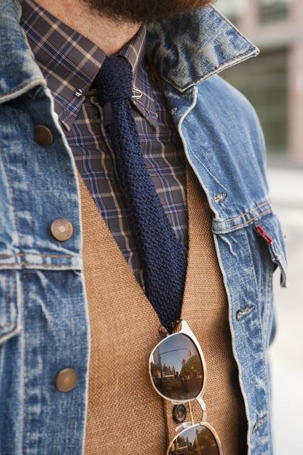 Wearing a jean jacket as a blazer