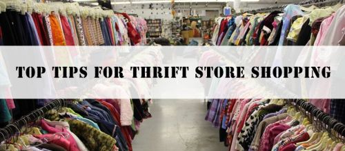 How to shop at thrift stores.
