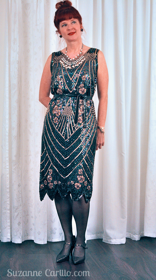 1920's style vintage beaded dress suzanne carillo