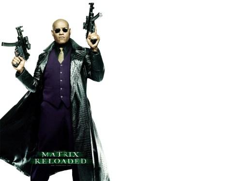 The Matrix long black leather coat