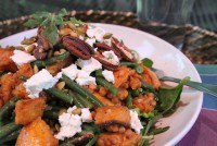 Green bean Arugula Sweet Potato Lentil Salad