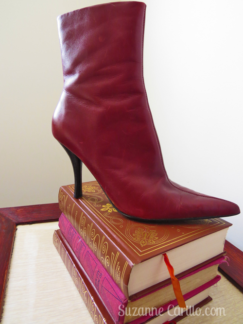 How to wear red leather boots after 40