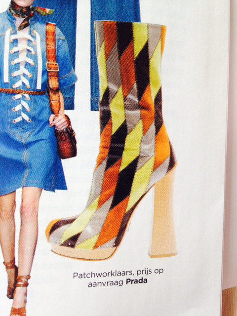 patchwork boots 1970's style inspired