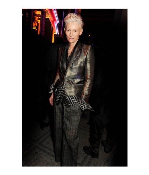 Tilda Swinton wearing menswear