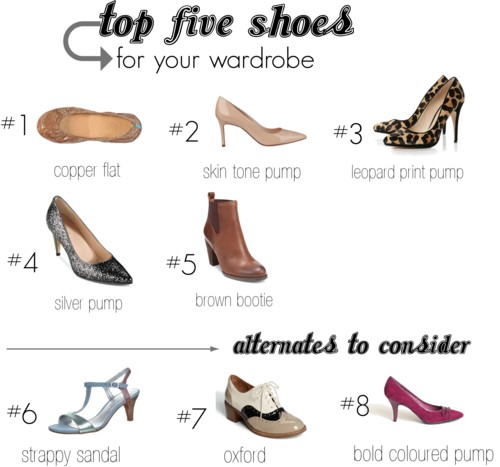 top five shoes wardrobe fundamentals over 40