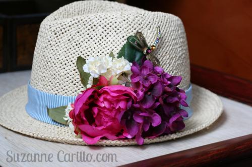 easy DIY summer floral hat