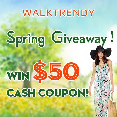 Walk Trendy $50 Giveaway!