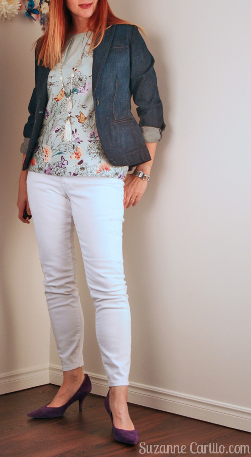 how to style white jeans for summer over 40