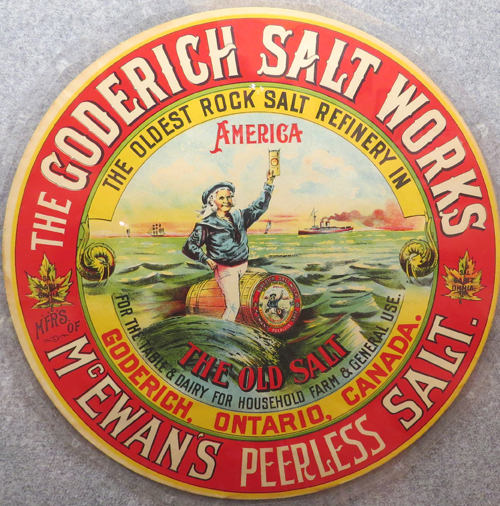 goderich salt label