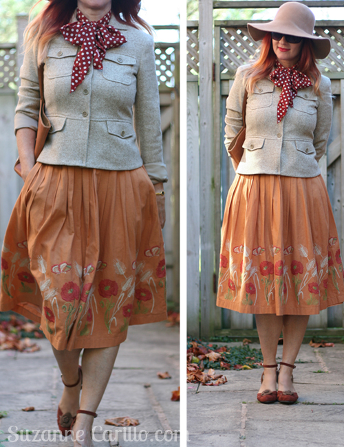 how to wear a vintage full skirt