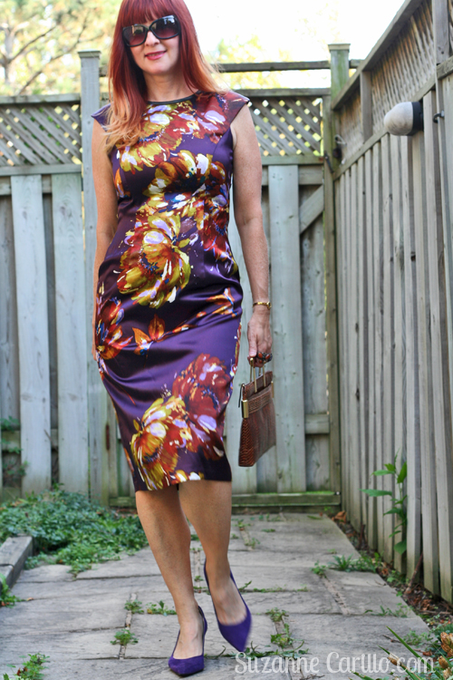 how to wear a floral dress over 40 style suzanne carillo