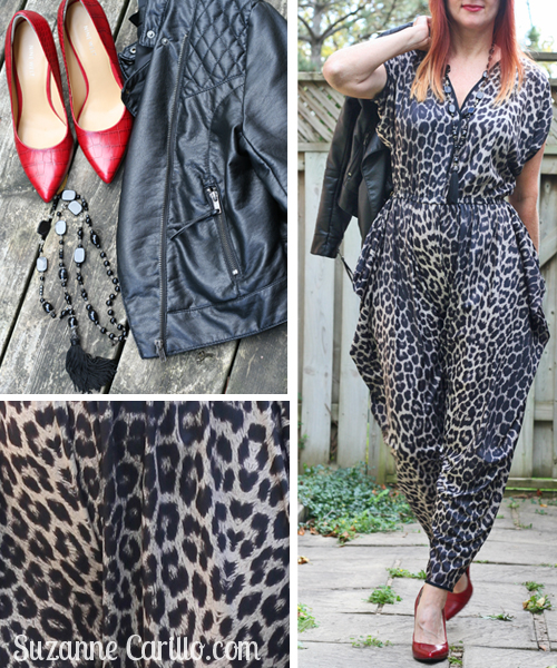 how to wear a leopard jumpsuit over 40