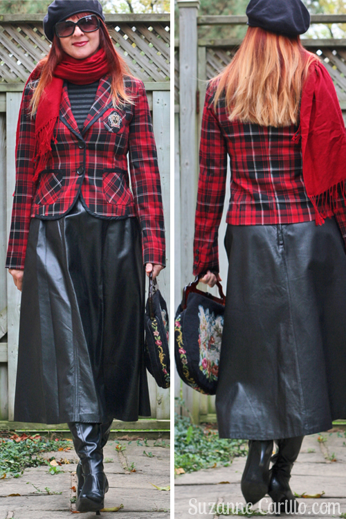 how to wear plaid for fall over 40