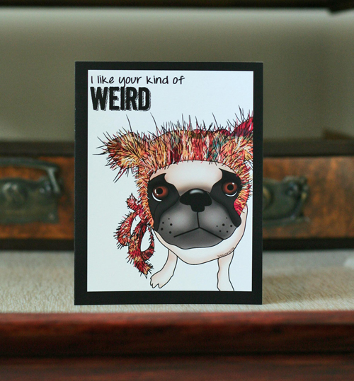 funny pug greeting card