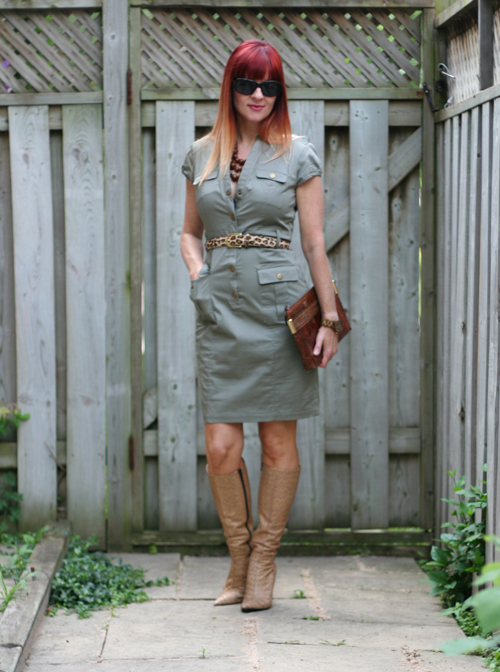 green h&m dress suzanne carillo over 40 style