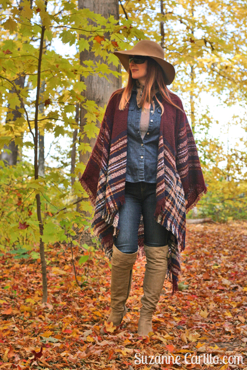 how to style a cape and boots for fall