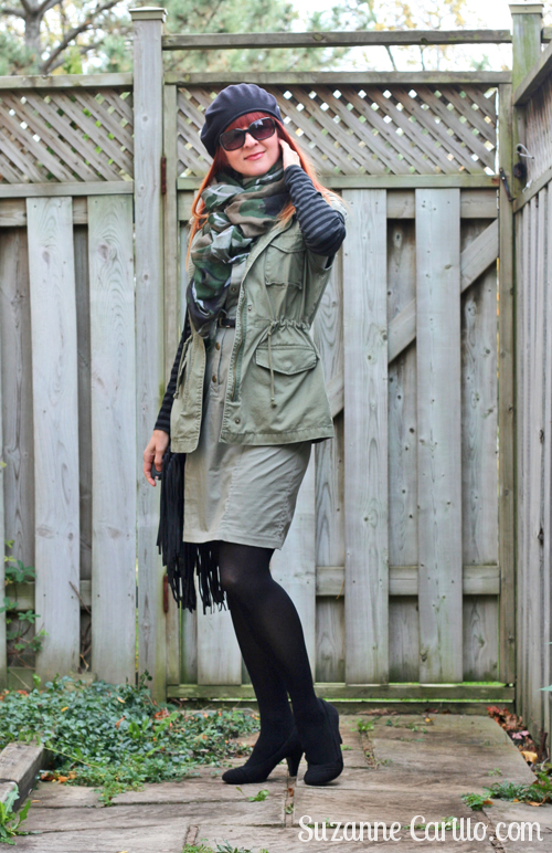 how to style an army vest with a dress suzanne carillo over 40 style