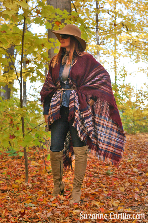 how to wear a cape and boots for fall