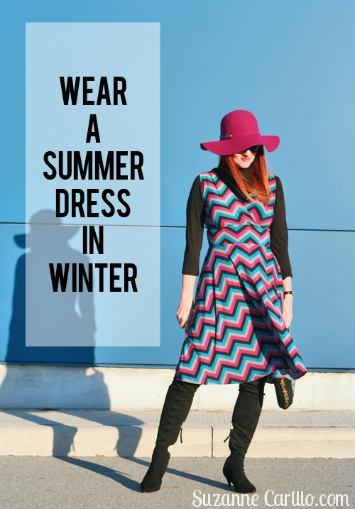 wear a summer dress in winter suzanne carillo over 40 style