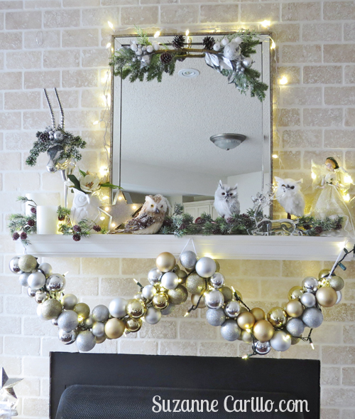 fireplace mantel christmas decorations ideas suzanne carillo