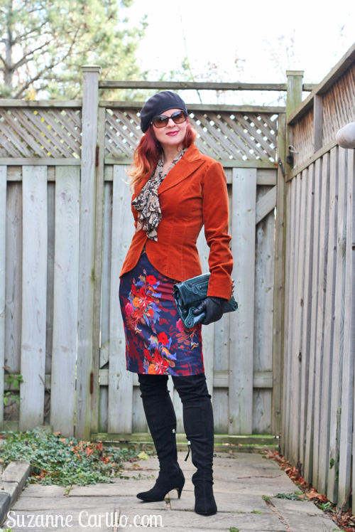 Thrifting Discoveries and how to dress in bold colours over 40 suzanne carillo