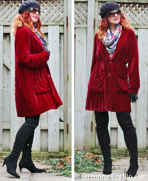 how to wear red velvet over 40 suzanne carillo