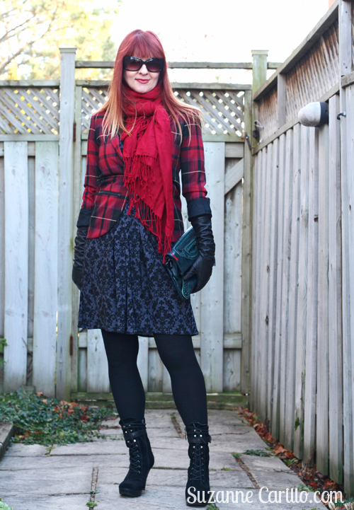 pattern mixing with plaid