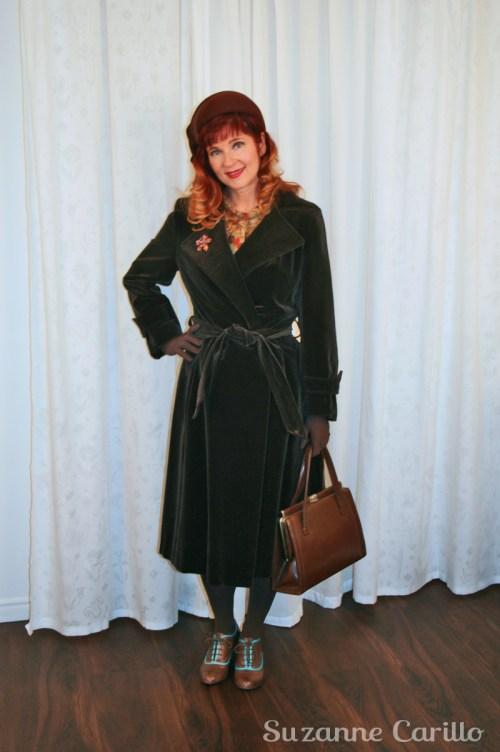 vintage 1940 brown velvet coat suzanne carillo