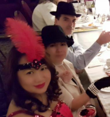 Murder mystery dinner Franca, Robert, Sophia