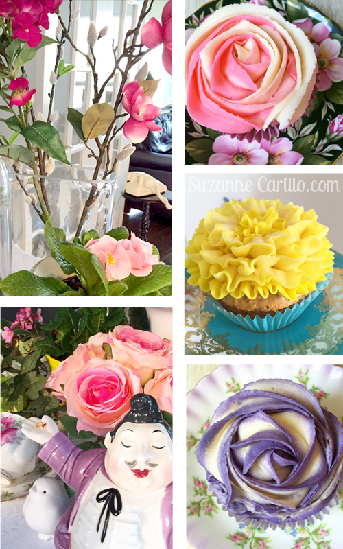flower decorated cupcakes suzanne carillo