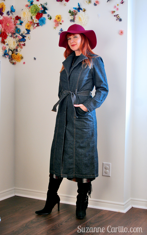 long denim trench over 40 style suzanne carillo