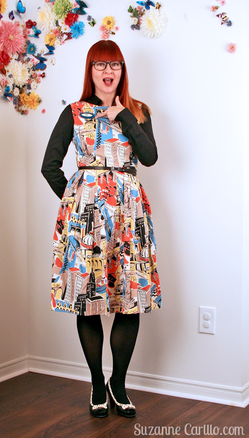 mod cloth fit and flare dress over 40 style suzanne carillo