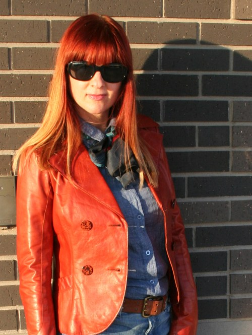 Chic leather style outfit ideas for women over 40 by Suzanne Carillo.