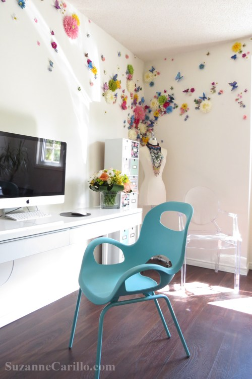floral wall decor idea