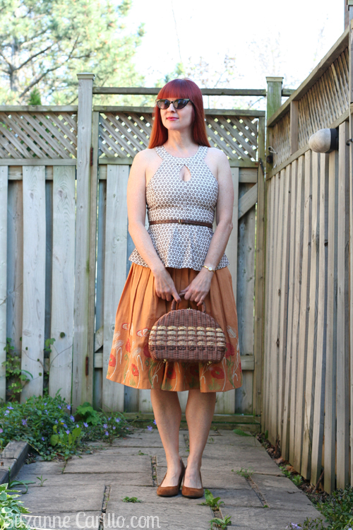 how to style a vintage skirt contemporary