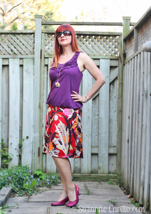 how to wear clashing bold colour over 40 suzanne carillo