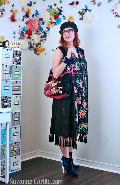 karina dress styled boho suzanne carillo style for women over 40