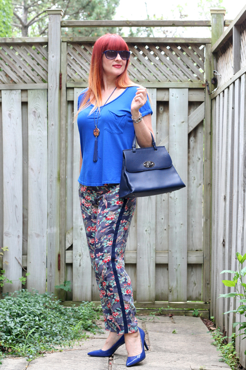how to style anthropologie patterned pants over 50 suzanne carillo