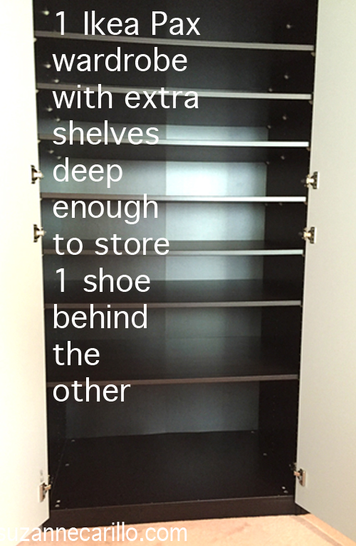 ikea pax wardrobe for easy shoe storage solutions