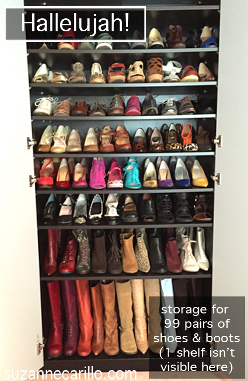 shoe storage solutions for 198 pairs of shoes suzanne carillo
