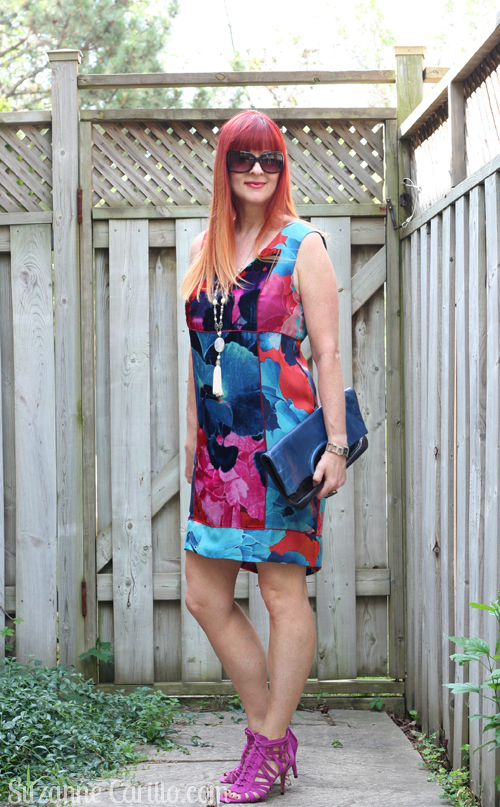 velvet and silk anthropologie shift dress what to wear over 40 suzanne carillo style
