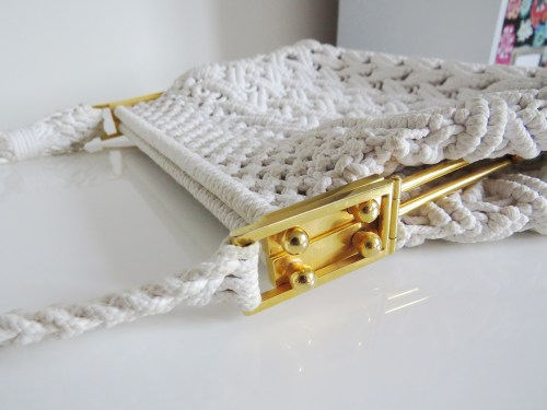 vintage macrame handbag made in italy for sale