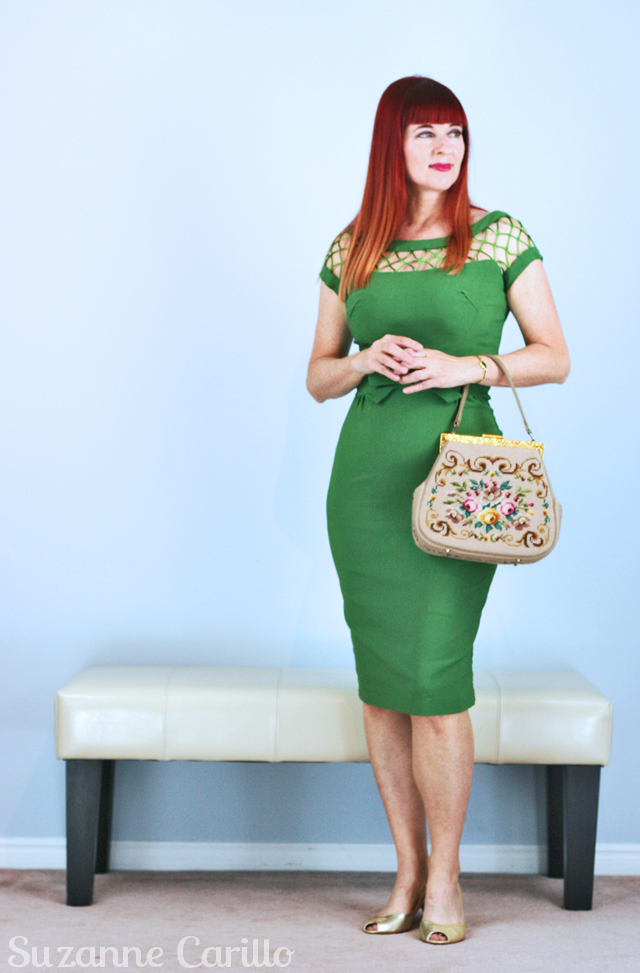 dangers of thrifting, overabundance Tatyana dress vintage inspired dress suzanne carillo