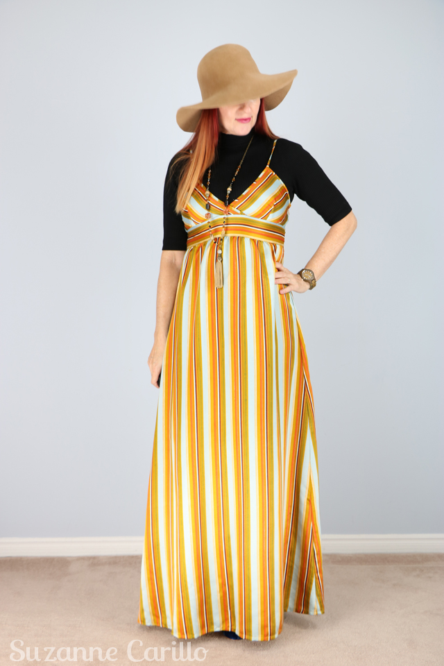 Vintage striped maxi dress