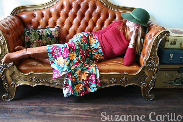 1980s vintage fall floral skirt for sale Vintage By Suzanne on Etsy