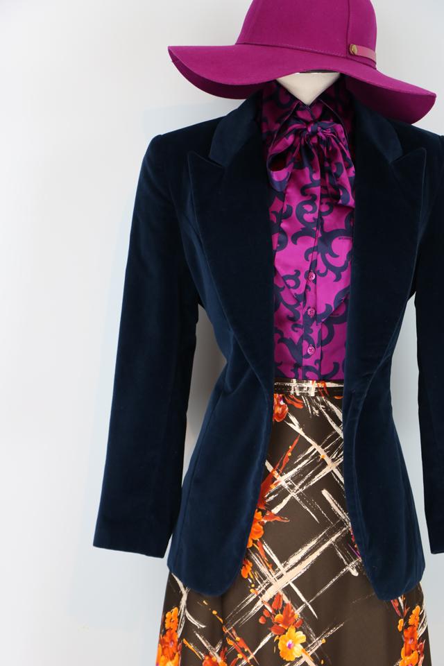 Vintage maxi skirt and velvet blazer for sale VintageBySuzanne on Etsy