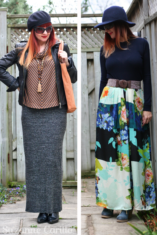 how to style a maxi skirt for fall suzanne carillo style for women over 40