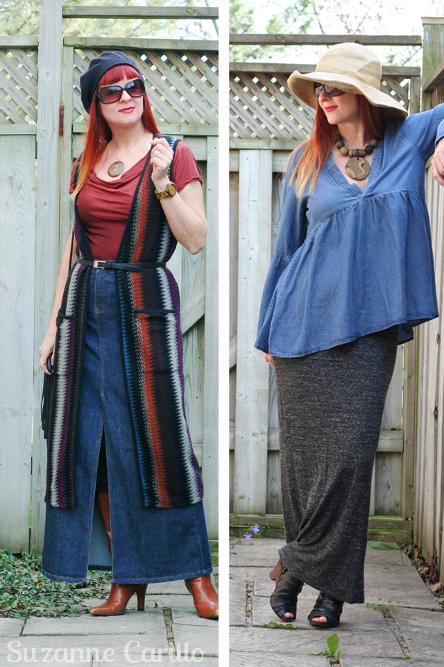 How to wear a maxi skirt for fall suzanne carillo style for the uncommon woman over 40